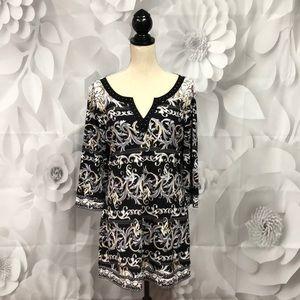 White House Black Market 3/4 Sleeve Sheath Dress L